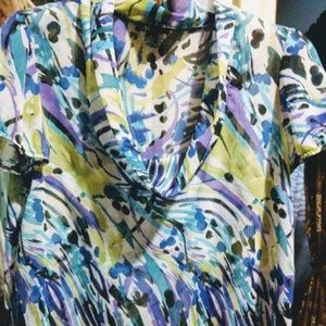 Soft Breezy Watercolor Printed Womens Top